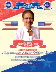 Eleanor Holmes Norton Event Flyer